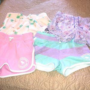 Set of 4 Girls Shorts